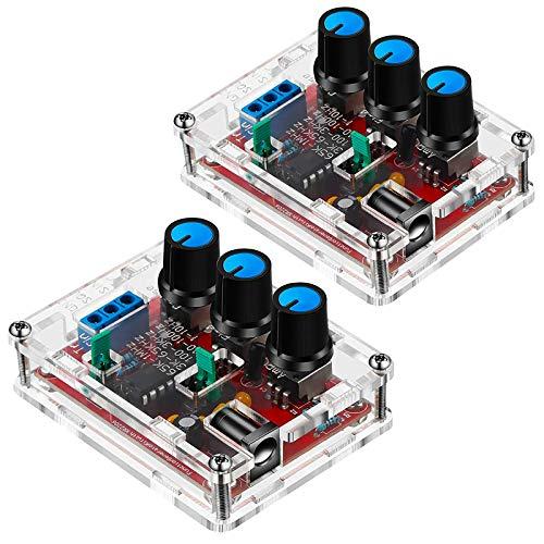 ZHITING 2 Pezzi Kit Generatore di Segnale, XR2206 Funzione Precisa Generatore di Segnale Modulo Generatore di Segnale Kit FAI DA TE Triangolo Sine Uscita Quadrato Regolabile 1Hz-1MHz, 9-12V DC Input
