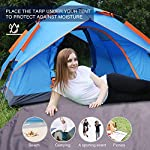 REDCAMP Waterproof Camping Tent Tarp - 90/140/180/210/240/270/300cm, 4 in 1 Tent Footprint Multifunctional for Camping Hiking Survival Tarp, Lightweight Compact 10