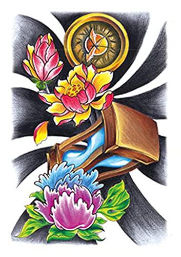 Brazo De Flor De Fuga De Pjaro De Flor 15X21cm-5Pcs Tatuajes Temporales Hoja De Pegatinas De Encaje Novia Boda Variedad Pequeos Tatuajes Temporales Impermeables Para Nios Adultos