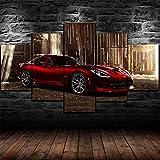 IKDBMUE 5 Piezas Impresión Lona Pintura Lona Red Classic SRT Viper GTS R Super Car Lienzo Arte de la Pared pósters e Impresiones Arte de la Pared Decoración de la habitación de los niños Cuadro