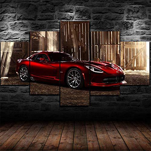 lcyab-5 Carteles De Pared Impresos En Lienzo En Dos Tamaños-Póster Enmarcado GTS R Super Car-Decoración del Hogar, Se Puede Colgar, con Marco ⭐