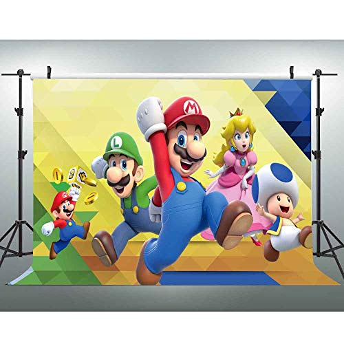 541554 7 Party Favor 7 TradeMart Inc Super Mario Brothers Square Plates