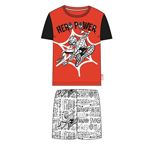 Cerdá Pijama Corto de Spiderman para Niños de Color Rojo