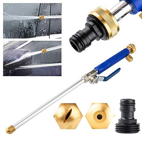 INFILM 2 in 1 ad alta pressione, idropulitrice a spruzzo ad alta potenza per lavaggio auto, giardino, finestrini esterni e vetri – con ugello spruzzatore di raccordo per tubo dell'acqua