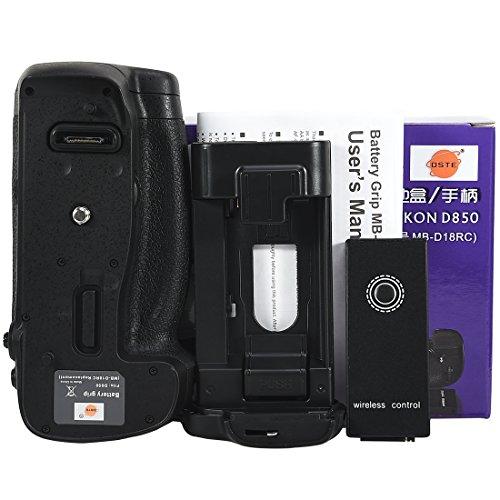 DSTE MB-D18 empuñadura de batería con función de control remoto por infrarrojos Compatible con cámara réflex digital Nikon D850
