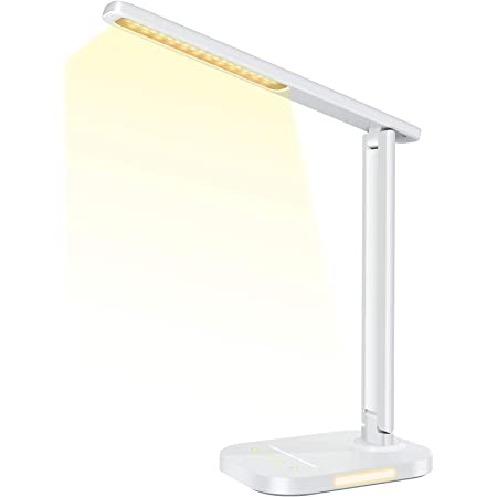 Tw Lighting Ivy 40wt The Ivy Led Desk Lamp With Usb Port 3 Way Touch Switch White Amazon Com