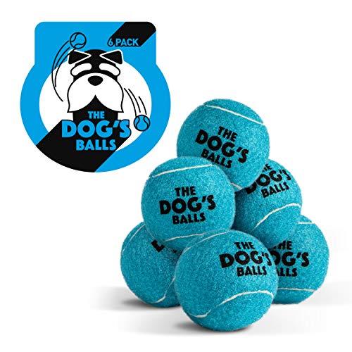 Pelotas de tenis para perros, 6 unidades de juguete azul para perro, pelota de tenis para perros y cachorros.