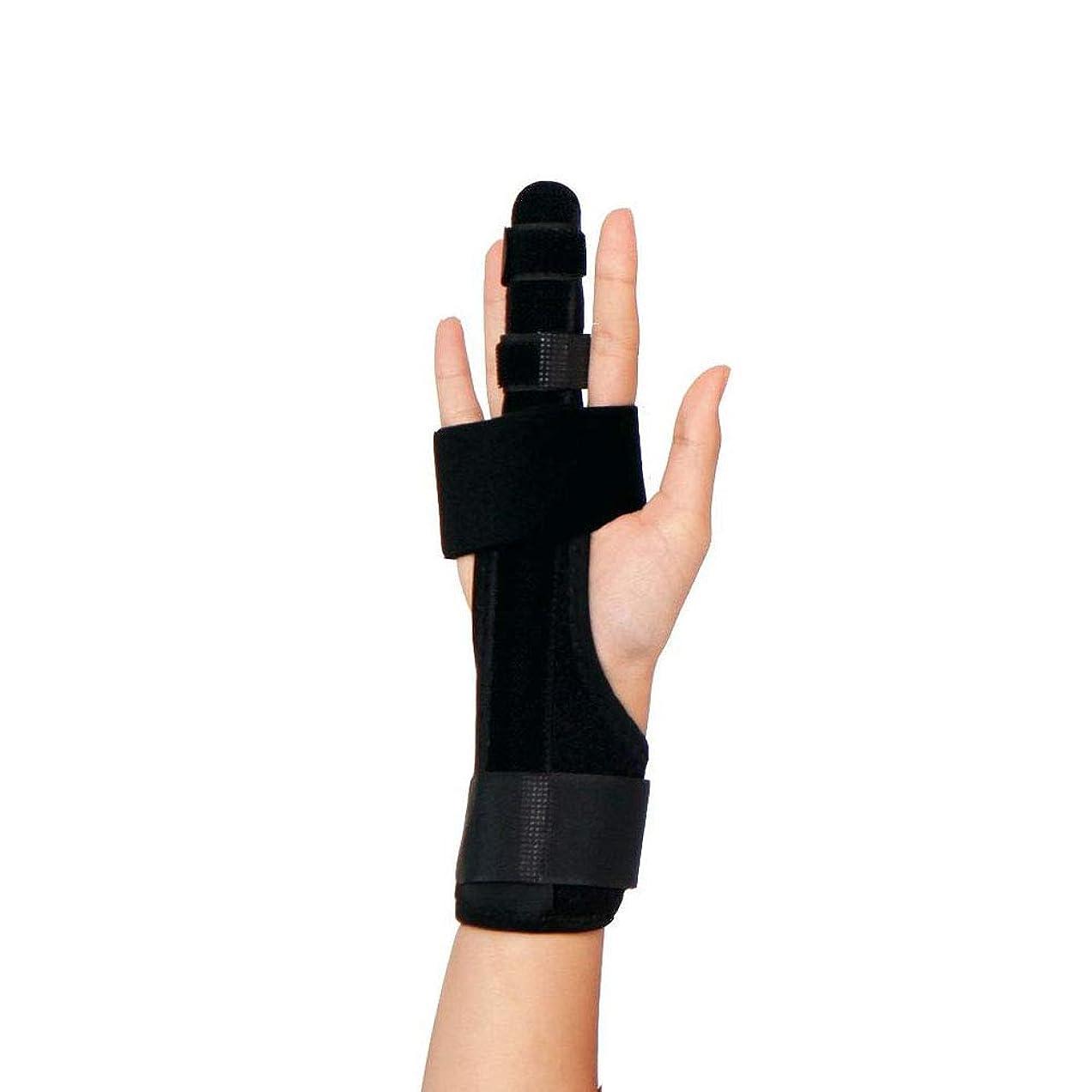ローンプライバシー意識的トリガーフィンガースプリントフィンガーブレース、折れた指用の快適なフィンガースプリント、曲がったマレットまたは関節炎の指関節用の調整可能なプロテクター