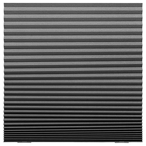 IKEA/イケア SCHOTTIS:遮光プリーツブラインド100x190 cm ダークグレー (703.695.08)
