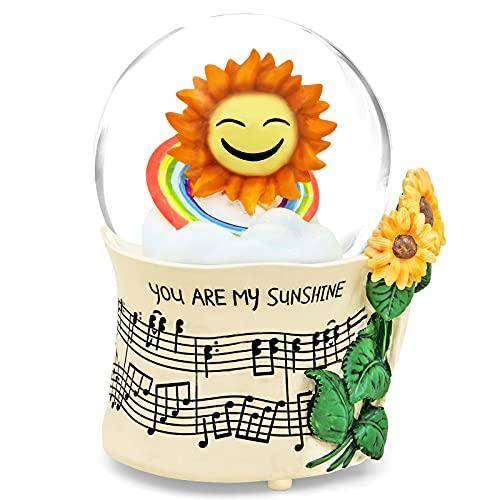 Mr.Winder Sunflower Music Box Snow Globe, Sunflower Gift for Wife Girlfriend Women, Flower Snowglobe...
