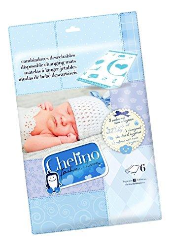 Chelino Fashion & Love Cambiador Infantil, Protector Cama - 6 Cambiadores