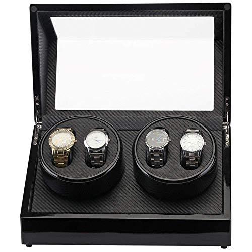 LJW Automatic Watch Winder Box 4 Watch Avvolgitore per Uomo agli Orologi da stoccaggio, 2 Orologio Avvolgitore Dual Watch Winder Box Orologio con   Codice Commodity: LJW-182