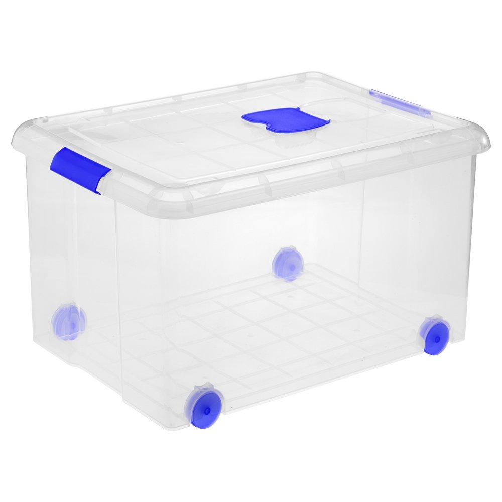 Great Plastic Caja Grande de plastico con Ruedas, Neutro, 60x44x32: Amazon.es: Hogar