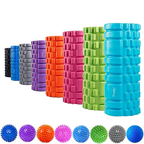 SYOURSELF Foam Roller for Muscle Massage-13' x 5.5', EVA, Trigger Point-Deep Tissue, Myofascial Release, Physical Therapy for Pain Relief, Exercise, Yoga, Pilates+Instructions, Carry Bag(Blue)