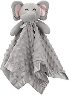 Pro Goleem Elephant Security Blanket Grey Soft Baby Lovey Unisex Lovie Gift for Toddler 16 Inch