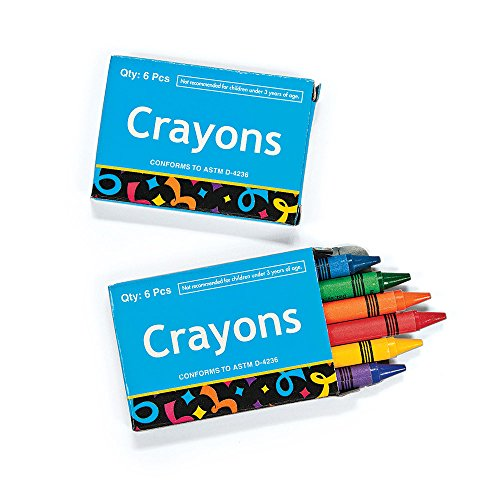 SmileMakers Six-Pack Crayon Boxes - Prizes and Giveaways - 48 per Pack