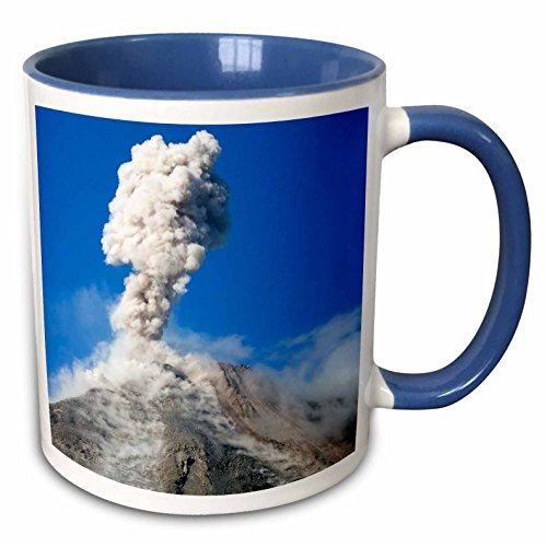 3dRose 87159_6 Adrenal Volcano Erupting, San Carlos, Costa Rica-Sa22 Dfr0012-David R Frazier Taza de dos…