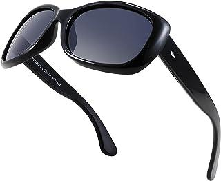 FEISEDY Vintage Square Polarized Sunglasses for Women Men Havana Thick Wrap Frame B2703