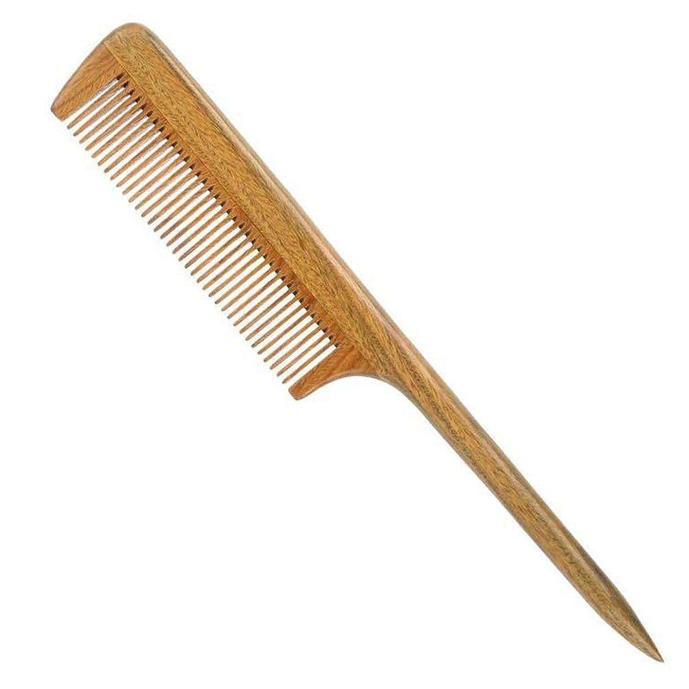 難しいゲインセイドルGuomao 天然サンダルウッドの櫛、先のとがったハンドル、髪の櫛、サンダルウッドの櫛 (Size : 18cm)