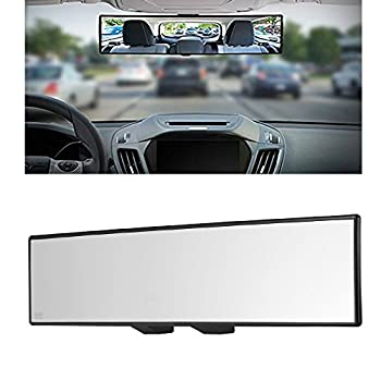Car Rearview Mirrors,Yoolight Car Universal 12   Interior Clip On Panoramic Rear View Mirror Wide Angle Rear View Mirror  12 L x 2.8  H