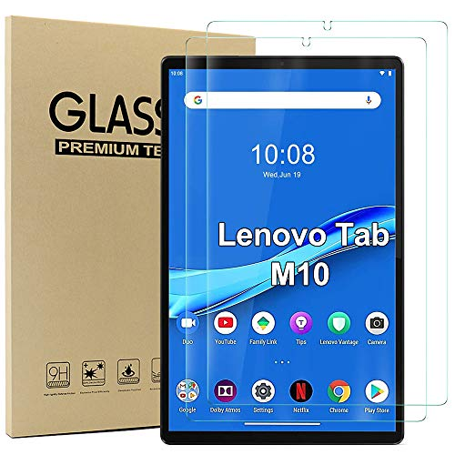 Ash case Screen Protector for Lenovo Tab M10 FHD Plus 103 Glas Displayfolie 9H Harte Anti Kratzer Anti Ol Anti Blaschen 25D Runde Kante for Lenovo Tab M10 FHD Plus Tablet 2 Stuck