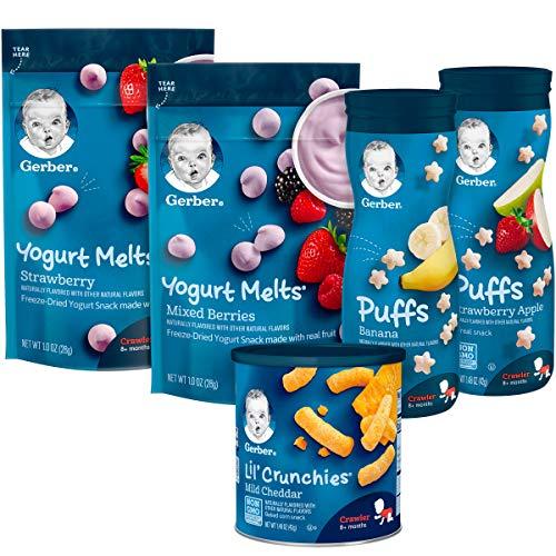 Gerber Up Age Snacks Variety Pack - Puffs, Yogurt Melts & Lil...