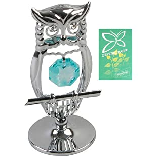 Crystocraft Keepsake Gift Ornament - Owl with Swarvoski Crystal Elements by CRYSTOCRAFT