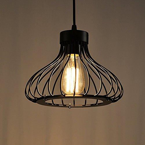 Vintage Retro Iluminación Colgante de Metal Jaula Colgante de Luz, E27 Moderna Lámpara de Techo para Loft Restaurante Coffee Cocina Habitación Salón