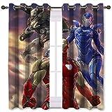 SSKJTC Cortinas opacas térmicas para sala de estar, Iron Man and Rescue Art (106 x 160 cm)