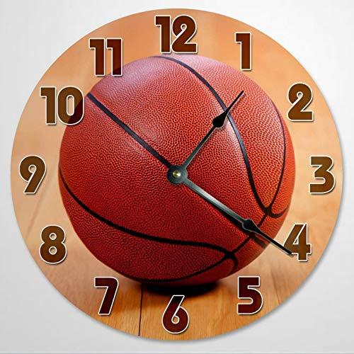 Reloj de pared de Basketball de 30,5 cm, funciona con pilas, decoración de pared de granja, decoración del hogar