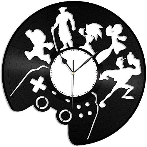 ZZLLL Juego de Vinilo Reloj de Pared Amigos Hombre Mujer decoración para el hogar diseño Retro Oficina Bar habitación decoración para el hogar