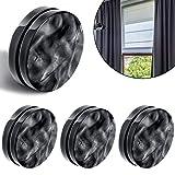 Jetec Magnetisch Vorhang Gewichte R&e Magnet Duschvorhang Gardinen Gewichte Fenstervorhang Tischdecke Anhänger Gewichte zum Blasen zu Stoppen, Schwarz (4)