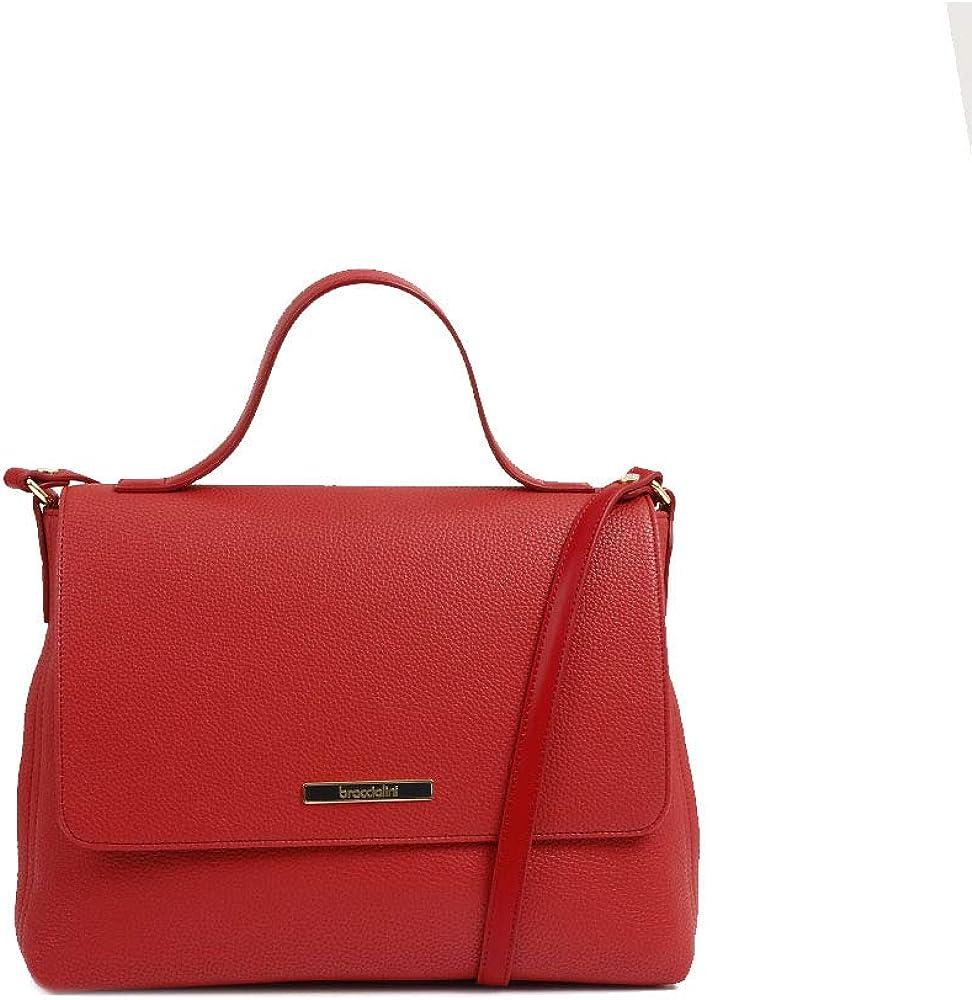 Braccialini,borsa da donna,borsa a spalla in similpelle,con borchie e stelline in metallo. B12520