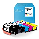 myCartridge Remanufactured Ink Cartridge Replacement for Epson 273XL T273XL (1Black 1Cyan 1Magenta 1Yellow 1PhotoBlack 5-Pack) High Yield Fit for Expression XP520 XP820 XP620 XP610 XP800 XP810 Printer