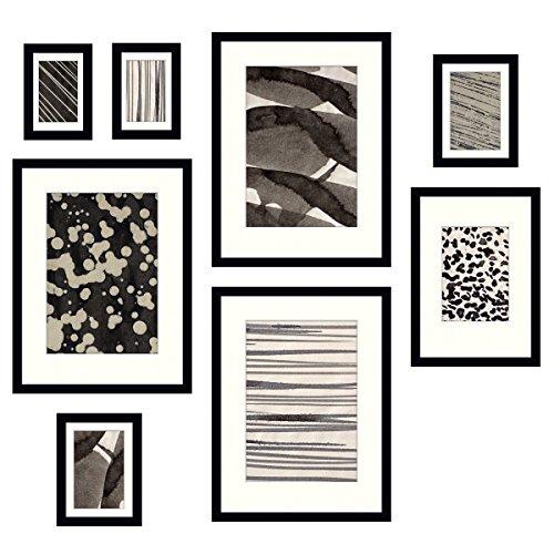 Eurographics Specular Reflection Bilderrahmen-Set, Glas/Holz, Schwarz, Verschiedenen Größen, 8