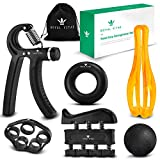 Royal Vitae Grip Strengthener Set (6 PC) Hand Grip Exerciser Strengthener, Easy to Use Hand Gripper and Hand Squeezer Grip Strength Trainer, Finger Strengthener, Forearm Workout & Hand Therapy