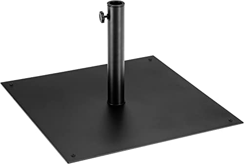 lowest Giantex online sale Square Umbrella Base, 40 LBS Steel Heavy Duty Patio Market Umbrella Stand with 3 Adapters, 25 Inch Outdoor Plate Stand with Adjustable Foot, Suitable for outlet sale Backyard, Deck, Poolside, Patio sale