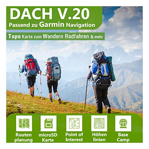 Dach V.20 - Outdoor Topo Karte passend zu Garmin GPSMap 62, 62s, 62sc, 62st, 62stc, 64x, 64sx