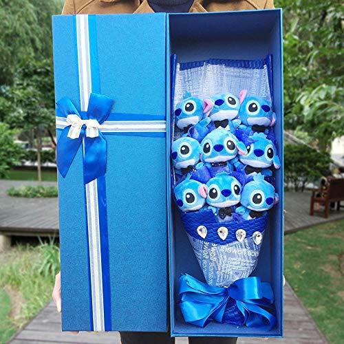 Best Quality - Stuffed & Plush Animals - Hemeng Kawaii Cartoon Stitch Bouquet Plush Stuffed Animals Soft plush Toys Lilo Stitch Bouquet Birthday Gift For Grownups - by Pasona - 1 PCs