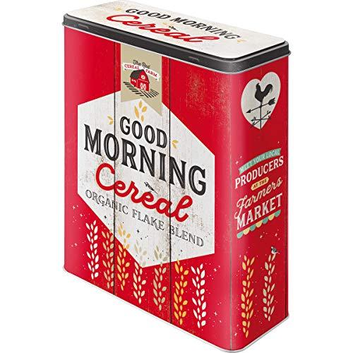 Nostalgic-Art Boîte de Rangement Cereal 30328 - en métal - Taille XL - 19 x 8 x 26 cm