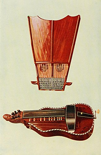 Posterazzi Musical Instruments 1921 Bell Harp & Hurdy-Gurdy Poster Print by William Gibb, (24 x 36)