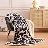 A Nice Night Sherpa Fleece Throw Blanket Leopard , Soft, Warm, Fuzzy Gray Throw for Couch Sofa   Solid Reversible Cozy Microfiber Fluffy Blanket,Microfiber (Light-Pink, Twin-60'x80')