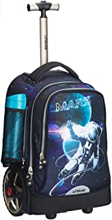 Boys Girls Wheeled School Backpack Kids Travelling Bags Hiking Shoulder Bags Waterproof Trolley Hand For Pupils Primary Students (Color : E, Size : 32x23x48cm)