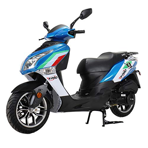X-PRO X20 150CC Moped Scooter Street Scooter Gas Moped 150cc Adult Scooter Bike with 13' Aluminum Wheels! (Blue)