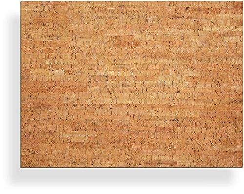 20' x 15' Bulletin Board with Decorative Cork Veneer - New wall mount materials included (four 3M Command Strips)