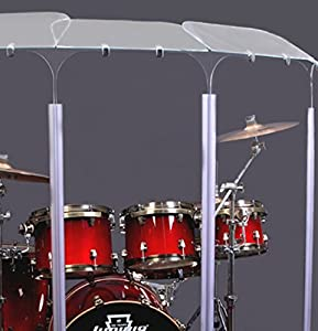 6 Section Drum Shield Panels With Deflectors Total Height 6 Feet With Living Hinges DS6D Living