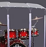Drum Shield 6 Panel Drum Shield with Deflectors 5foot Tall DS5D L
