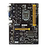 Bslemon GPU Mining Motherboard kompatibel mit Biostar Intel H81A Motherboard Sockel LGA1150 4th Generation Intel Core i7/i5/i3 Intel B250 DDR3-1600/1333 16G DDR4 6 PCIE Expansion Slot