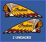 Ecoshirt KS-A6TW-G9AE Aufkleber Stickers Indian Motorcycle Ref: Dp278 Aufkleber Autocollants Adesivi Moto Decals Motrocycle, 5 cm