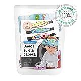 Tillmann's Kids Sujeta Cabezas Coche Para Niños - ÚNICO Set Coche Bebé de 2+1 Soportes de Cabeza Para Silla Coche - Reposa Cabezas Niña y Niño